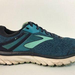 Brooks Womens Adrenaline GTS18 Running Shoe Sz 9 B